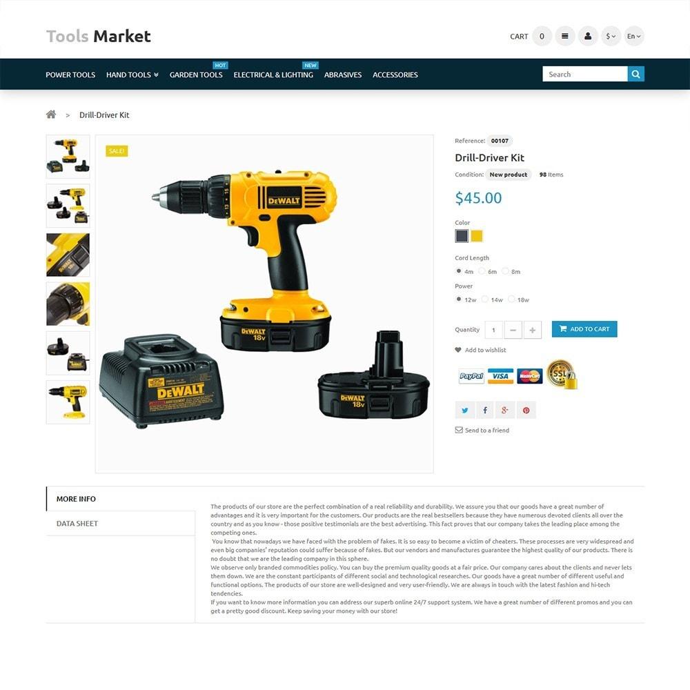 Tools Market - шаблон на тему ремонт