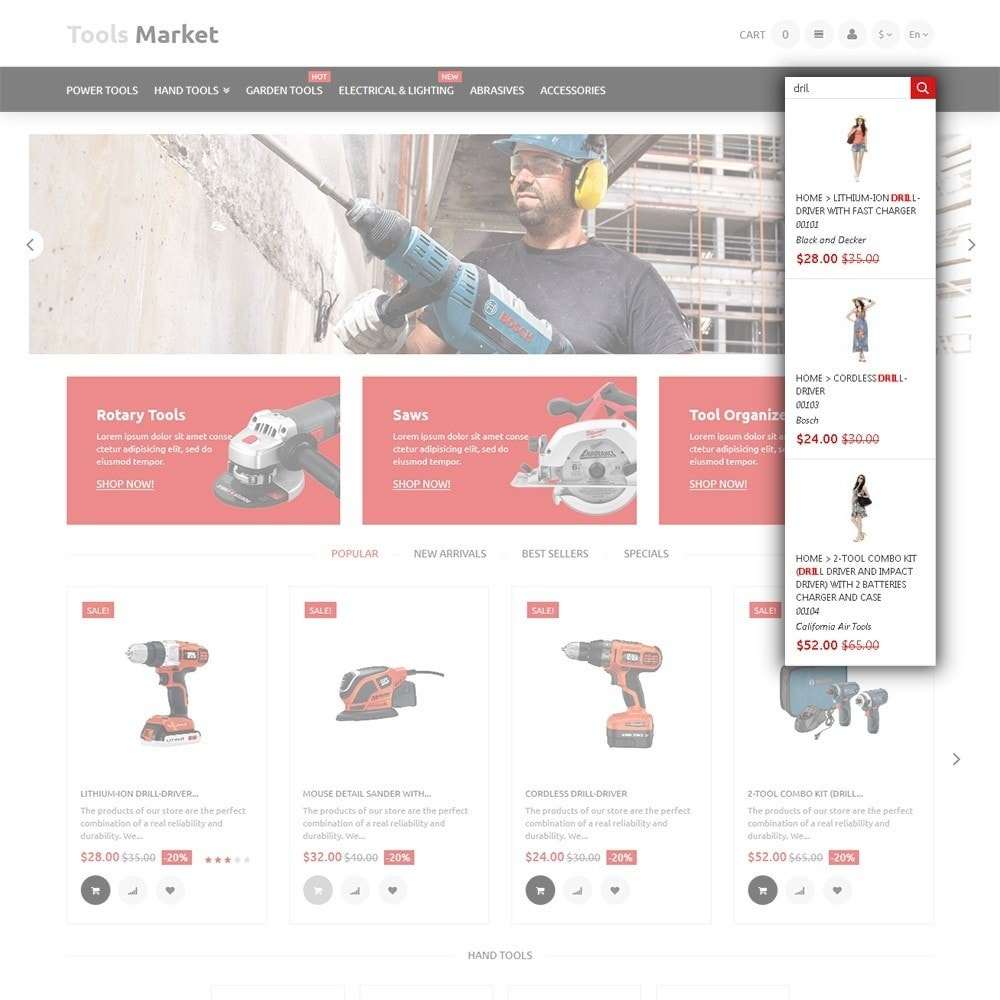 theme - Dom & Ogród - Tools Market - Home Repairs Template - 6