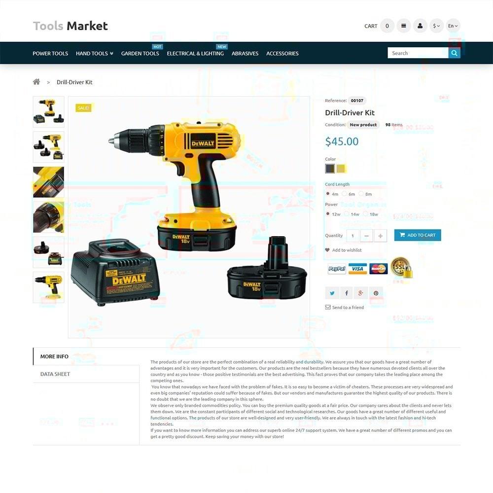 Tools Market - Marché d'outils thème