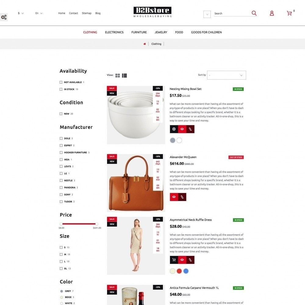 theme - Mode & Chaussures - B2Bstore - 5