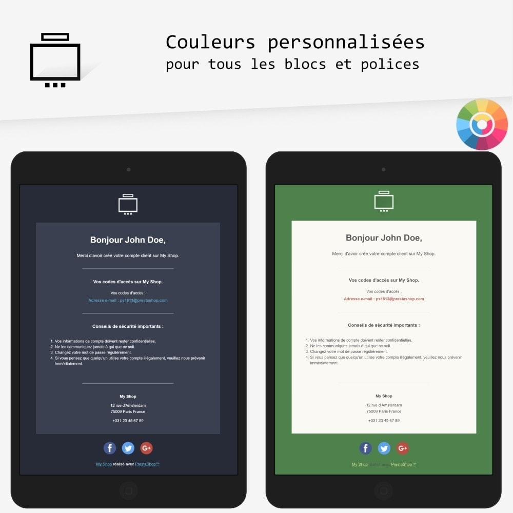 email - Templates d'e-mails PrestaShop - Minimalist - templates d'e-mails - 2