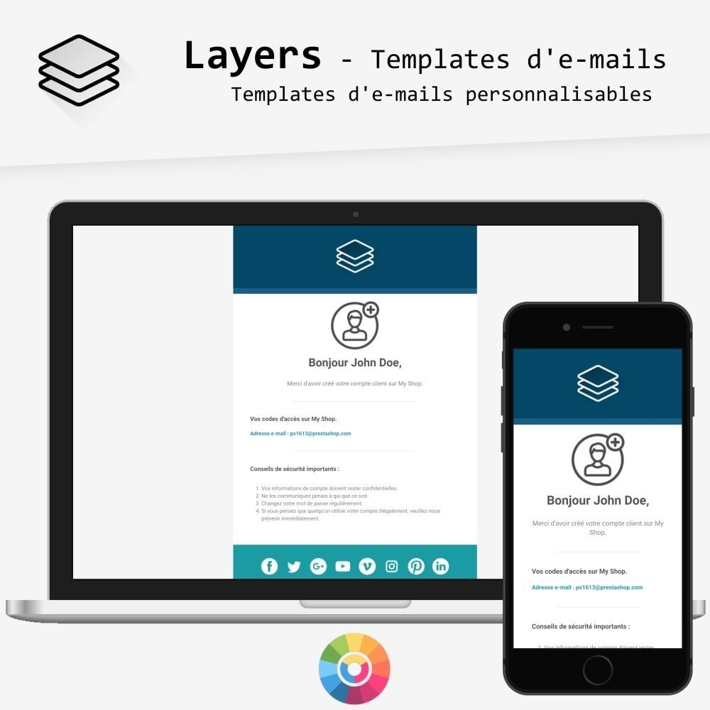 Layers - templates d'e-mails