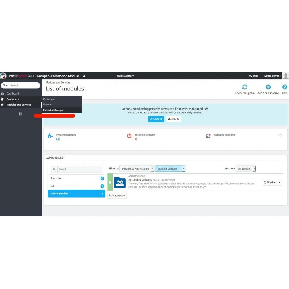 module - Управления учетными записями клиентов - Grouper - Extended Customers Groups - 2