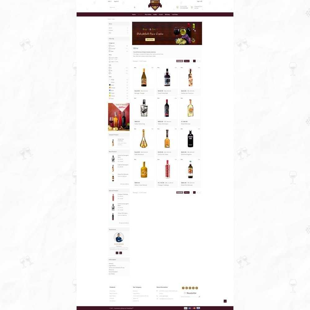 theme - Bebidas & Tabaco - On Star - Wine Store - 3