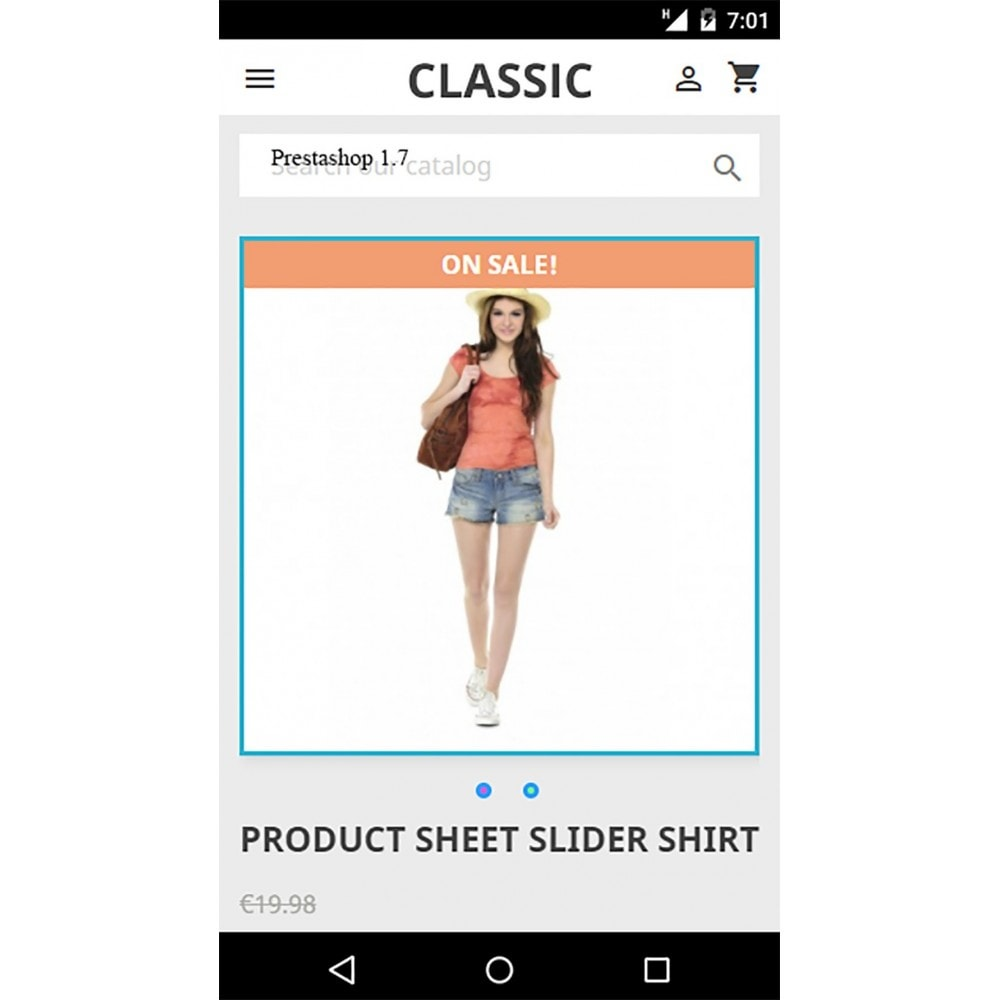 module - Sliders & Galeries - Image slider in a mobile product sheet - 2