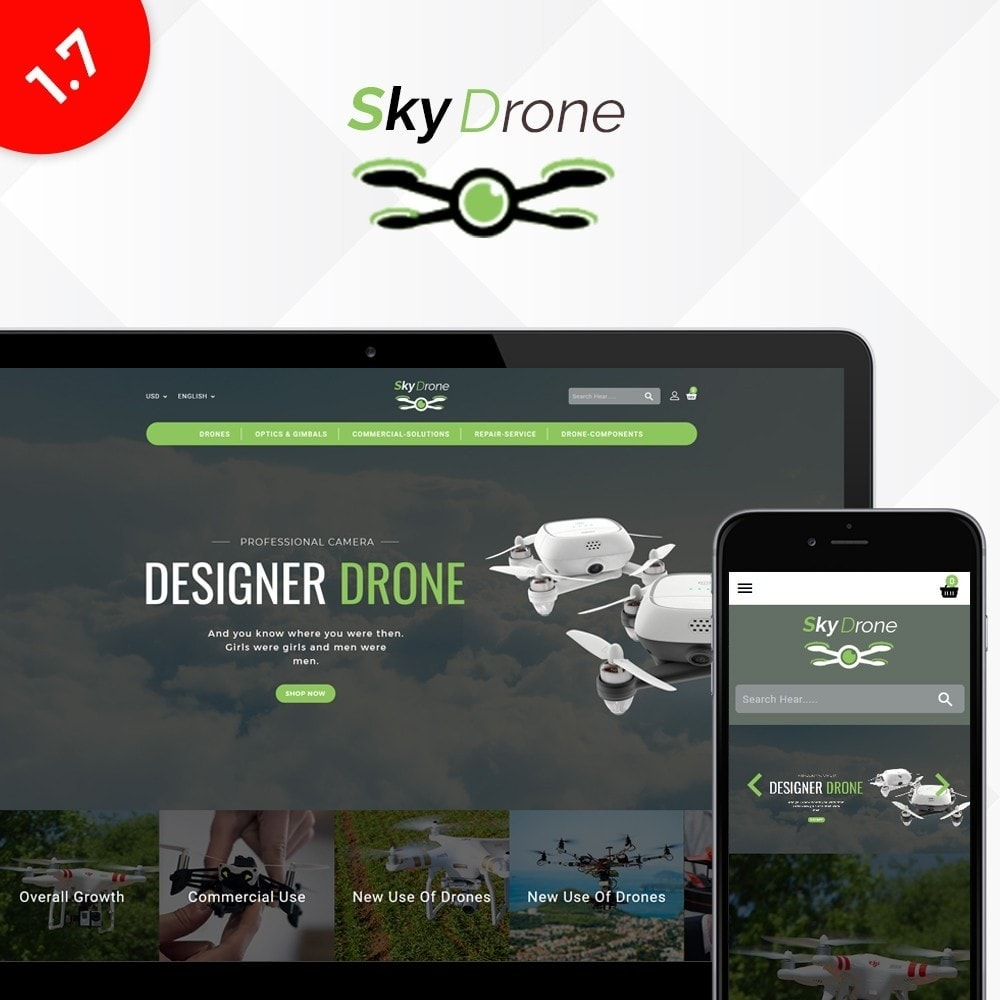 theme - Electrónica e High Tech - Drone Store - 1