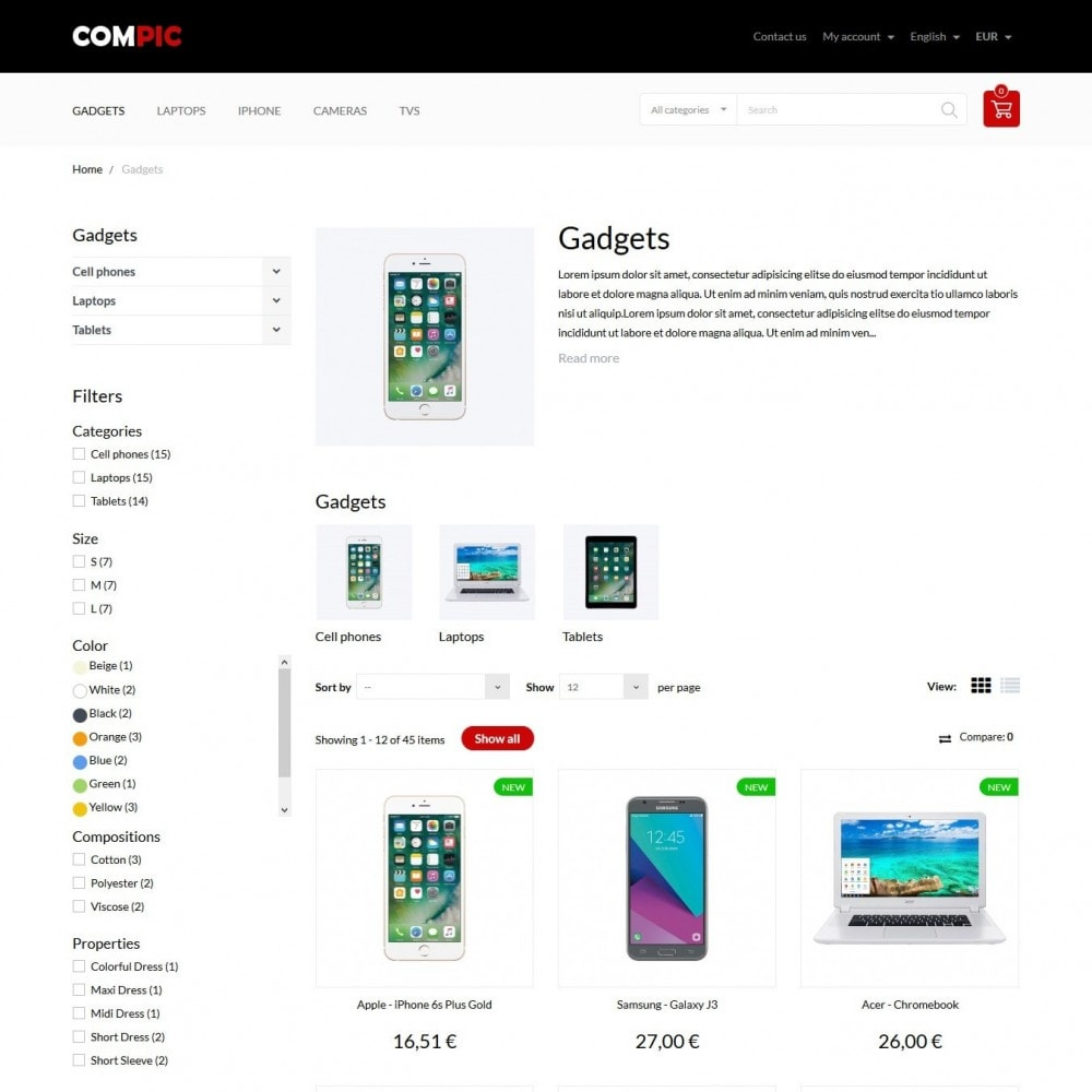 theme - Electronique & High Tech - Compic - High-tech Shop - 6