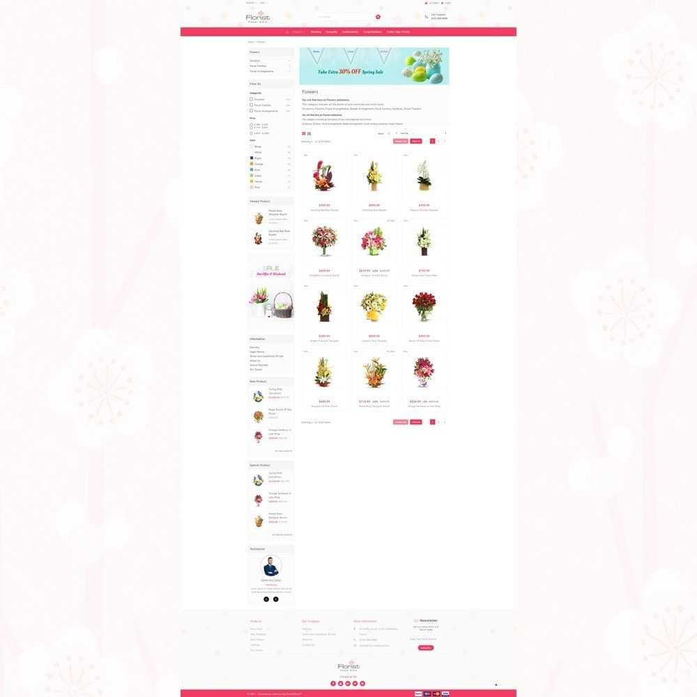 theme - Regali, Fiori & Feste - Florist - Boutique Flower Store - 3