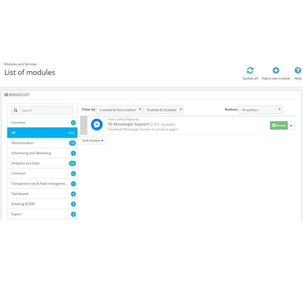module - Suporte & Chat on-line - Botão Messenger e Chat - 2