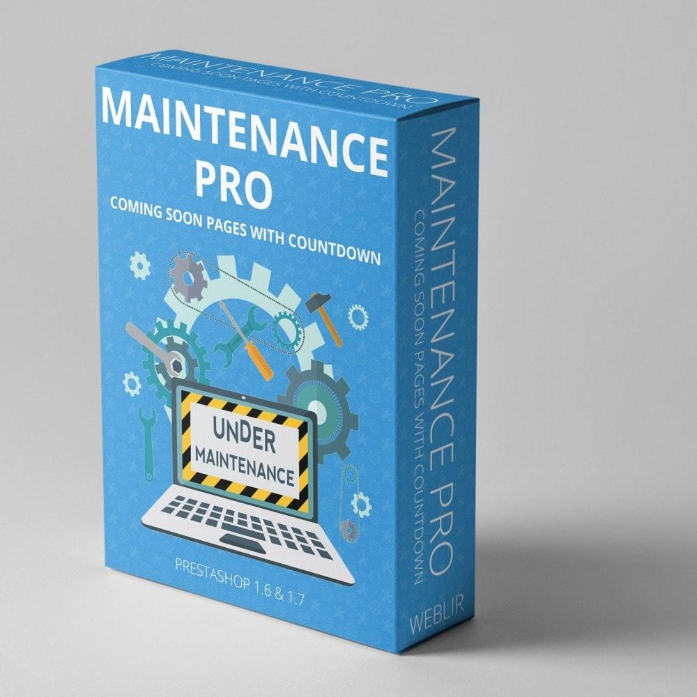 module - Personalisering van pagina's - Maintenance Pro - Binnenkort pagina's met aftellen - 1