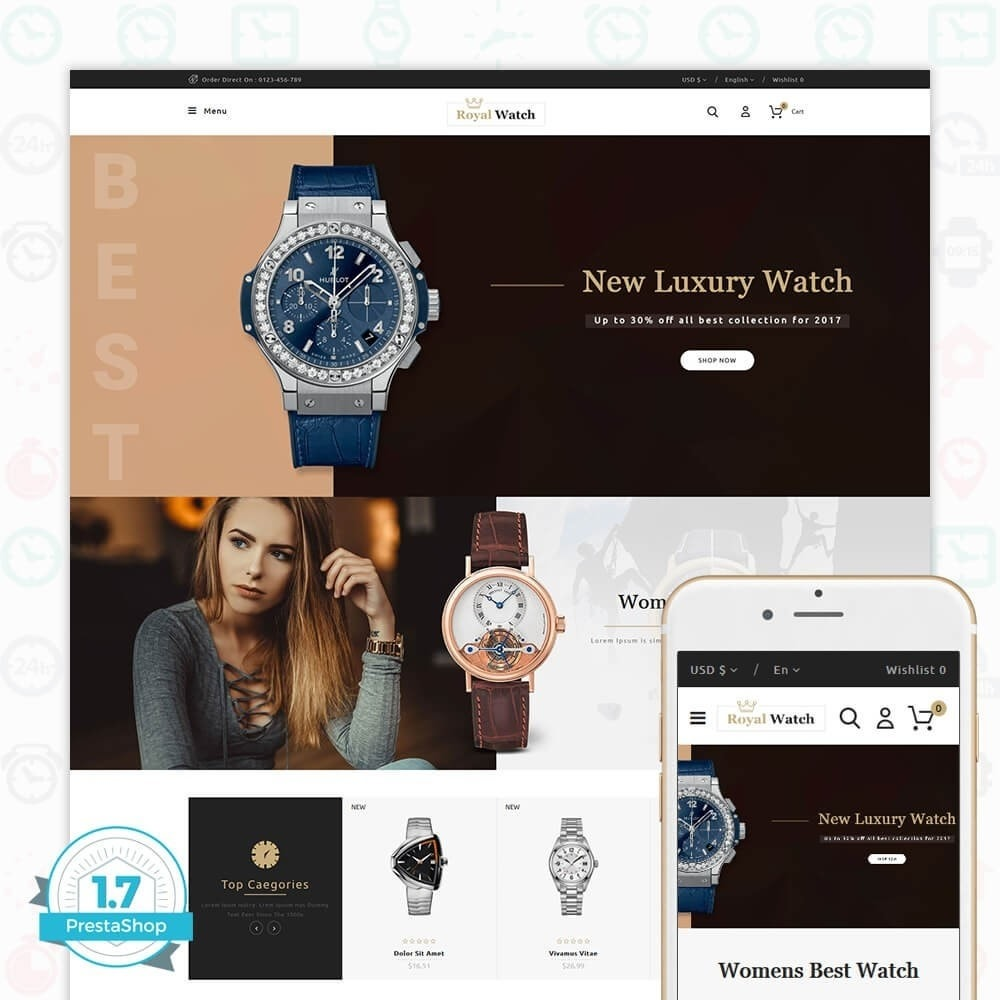 theme - Electrónica e High Tech - Royal Watch - The Special Watch Store - 1