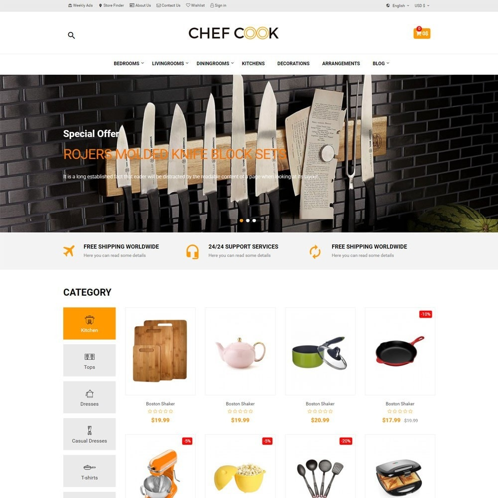theme - Дом и сад - Housewares and Kitchen Store - ChefCook - 2