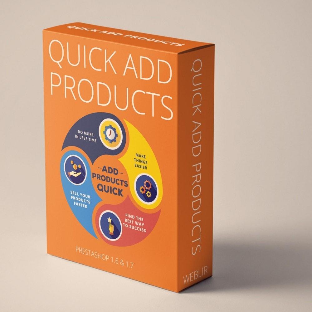 module - Snelle & seriematige bewerking - Snel producten toevoegen - maak producten sneller - 1