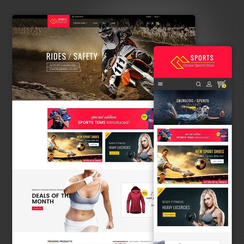 theme - Deportes, Actividades y Viajes - Sports Store - 1