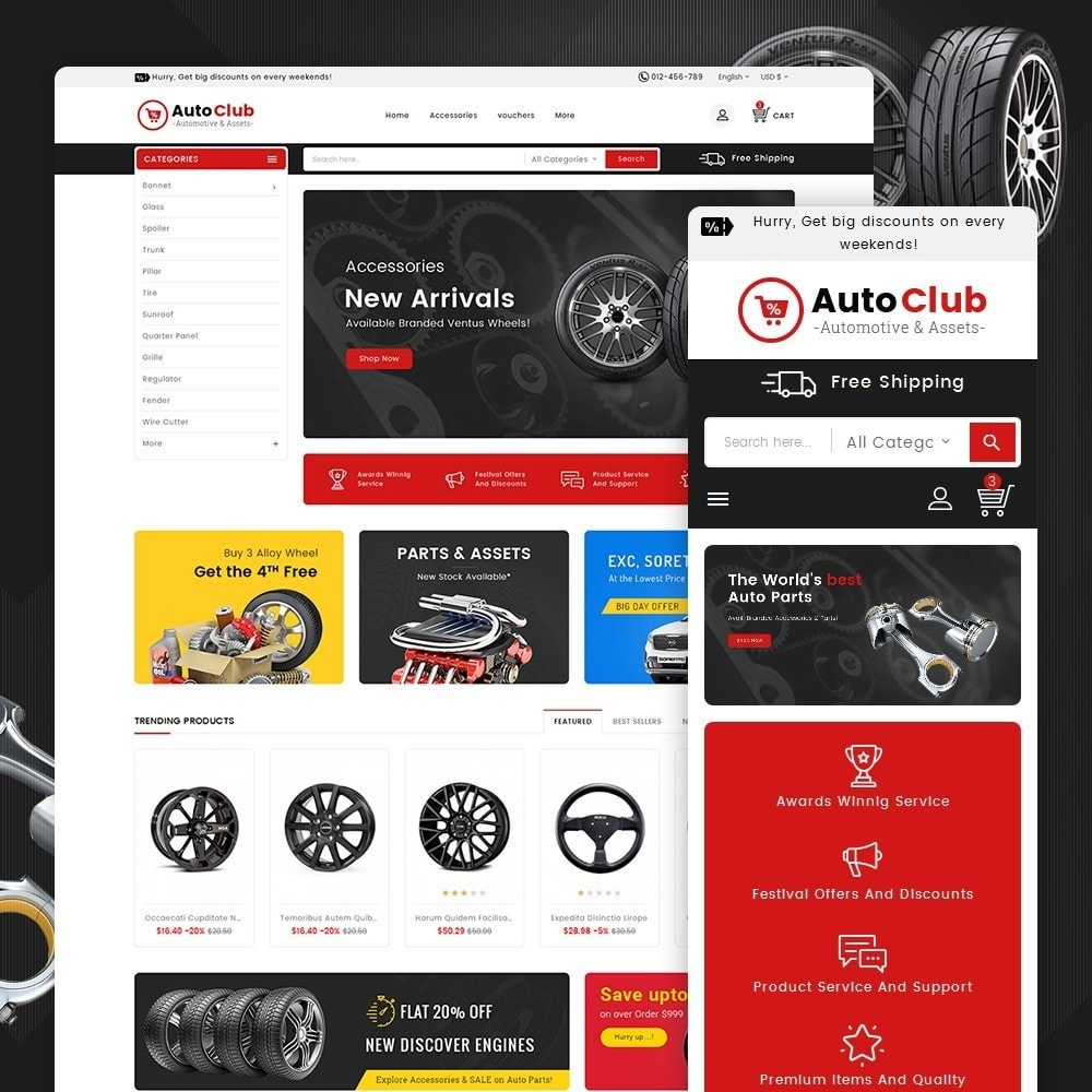 theme - Auto & Moto - Mega Auto Parts - 1