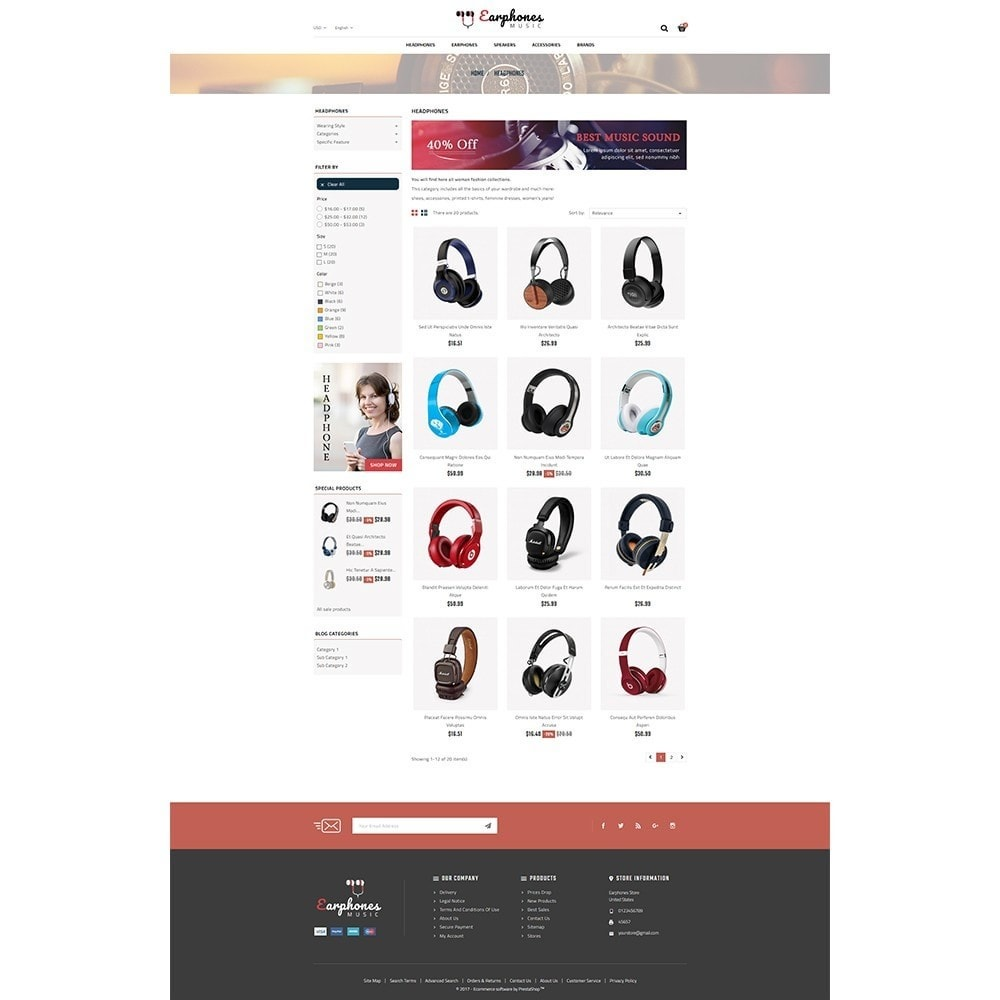 theme - Elettronica & High Tech - Earphones Store - 3
