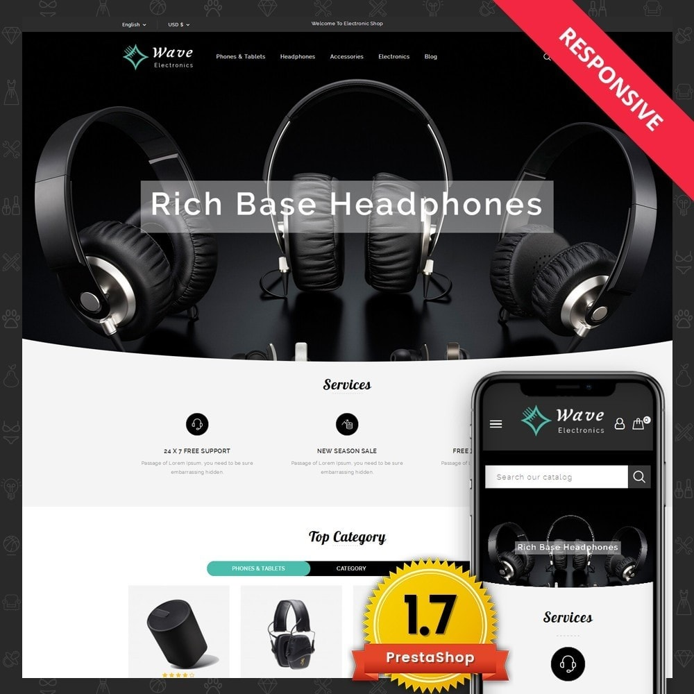 theme - Elettronica & High Tech - Wave Electronics Store - 1