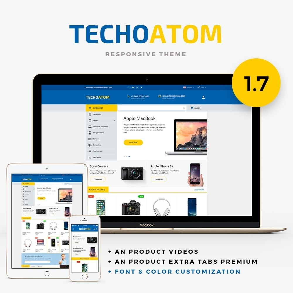 theme - Electronics & Computers - Technoatom  - High-tech Shop - 1