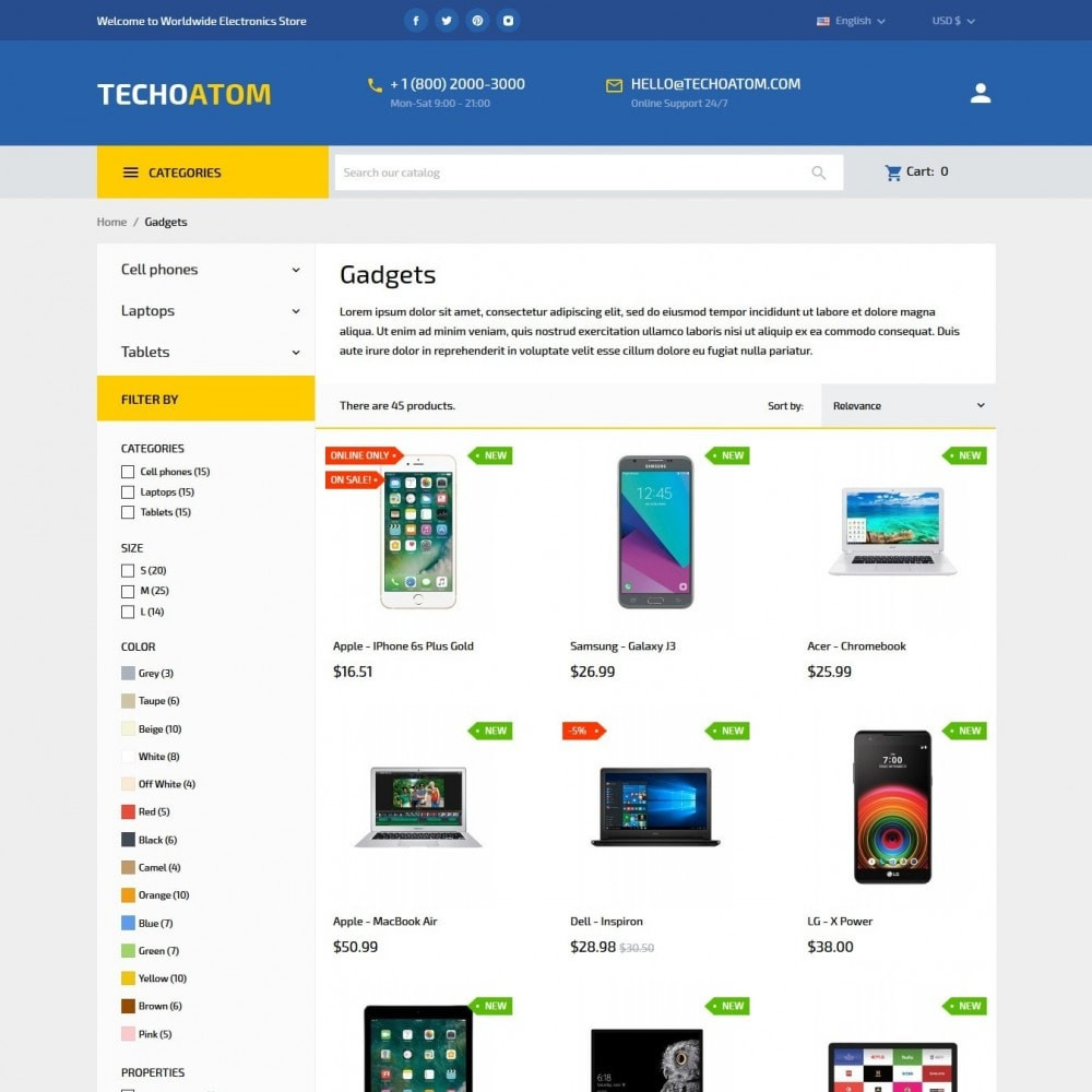 theme - Electronics & Computers - Technoatom  - High-tech Shop - 6