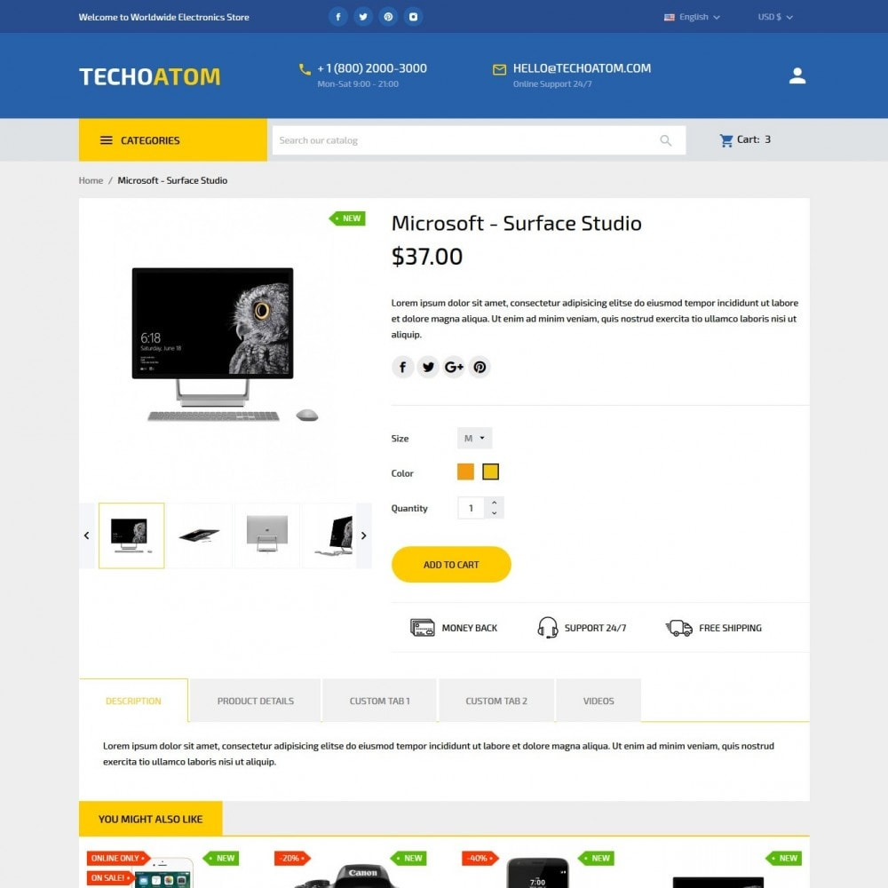 theme - Electronics & Computers - Technoatom  - High-tech Shop - 7