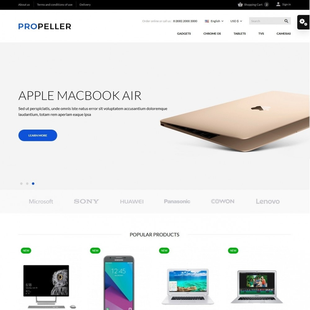 theme - Электроника и компьютеры - Propeller - High-tech Shop - 2