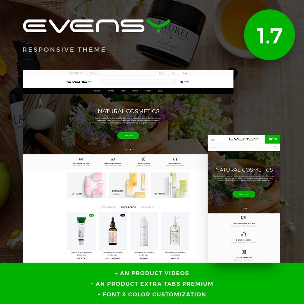 theme - Health & Beauty - Evensy Cosmetics - 1