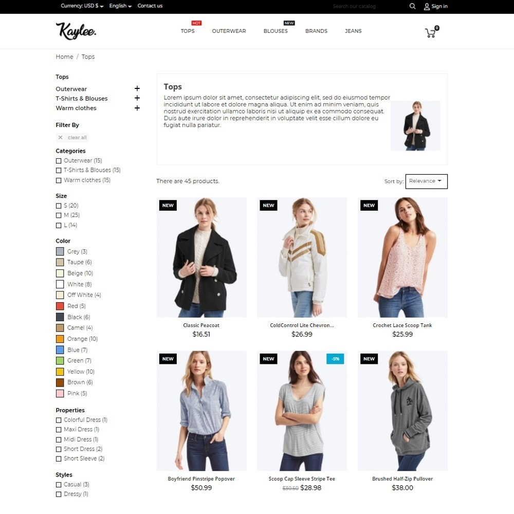 theme - Mode & Chaussures - Kaylee Fashion Store - 6