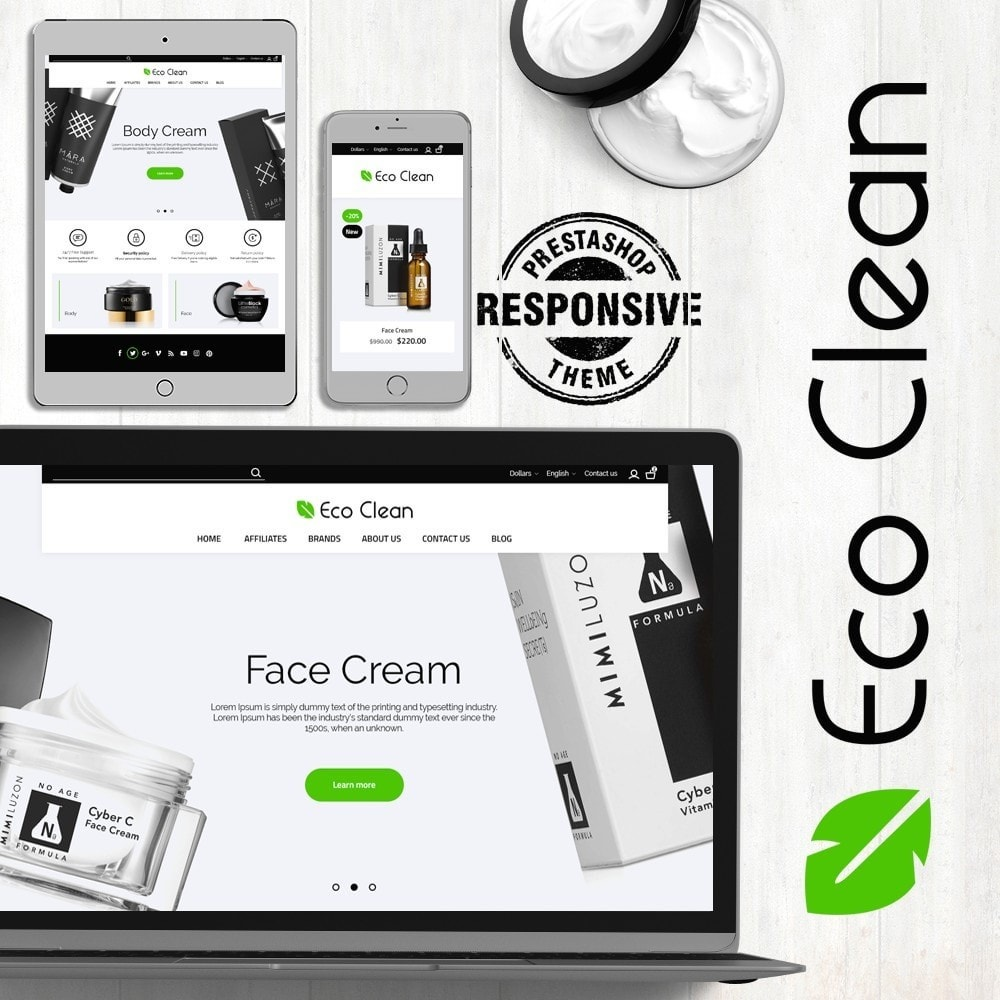 theme - Health & Beauty - Eco Clean Cosmetics - 1