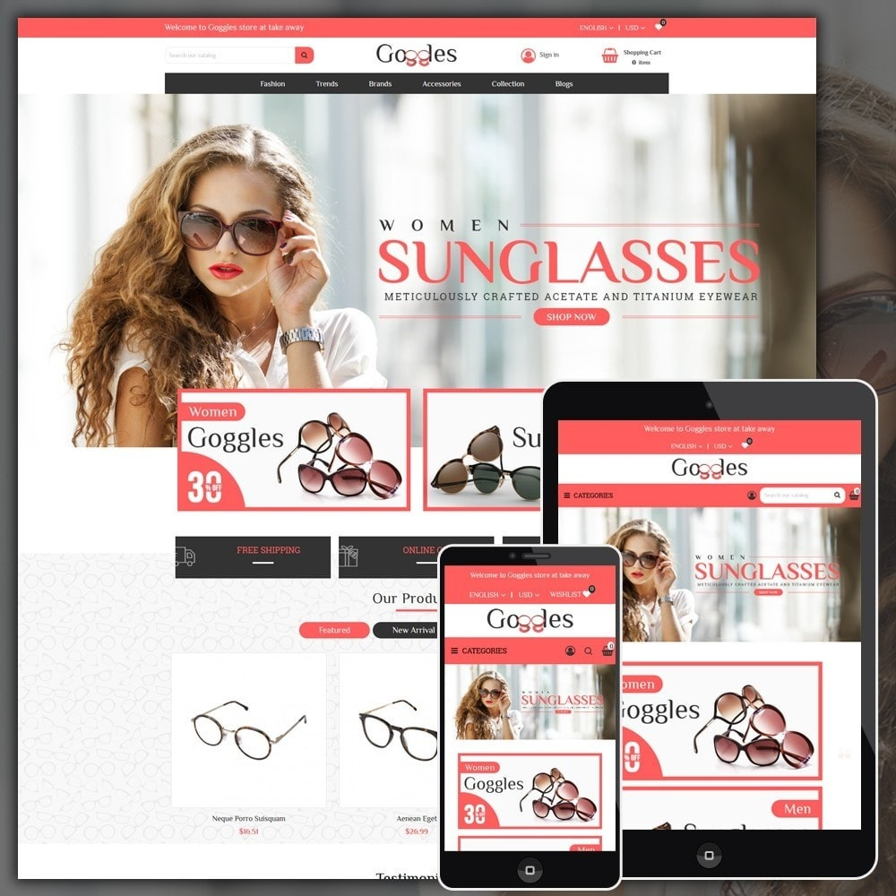 theme - Moda & Calzature - Goggles Shop - 1