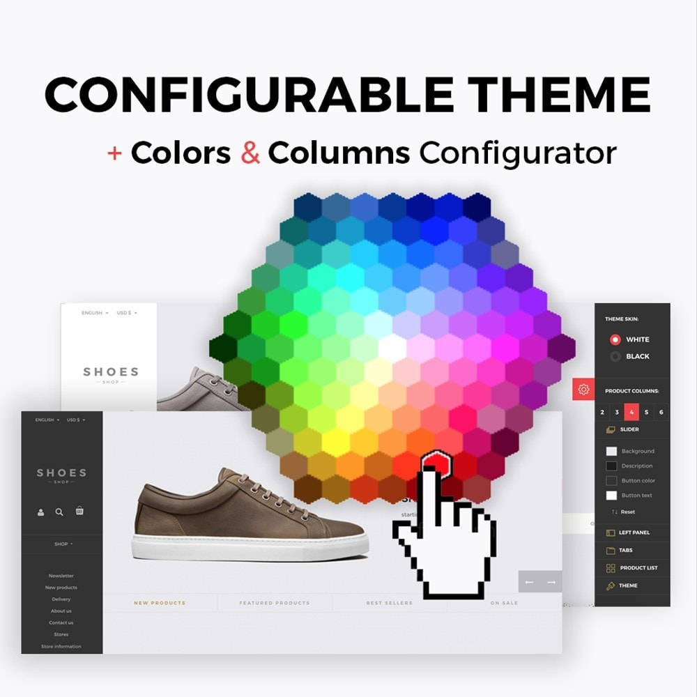 theme - Mode & Schoenen - Configurable Shoes Theme - 1