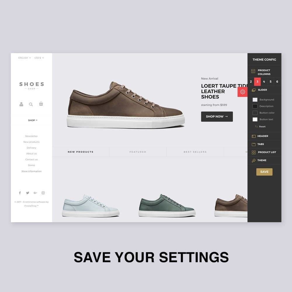 Configurable Shoes Theme