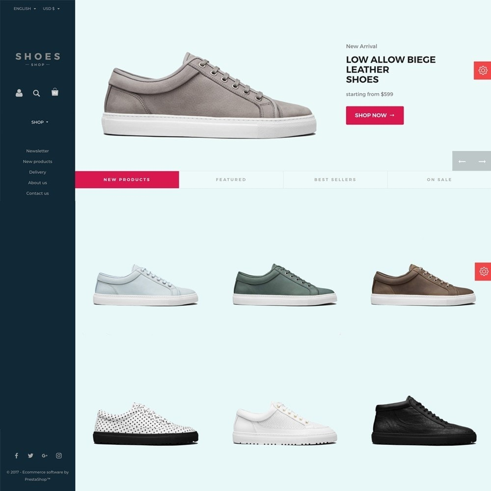 theme - Мода и обувь - Configurable Shoes Theme - 8