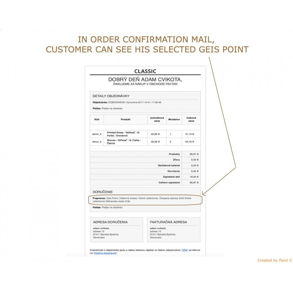module - Collection Points & In-Store Pick Up - Geis Orders Export and Geis Points Display to CZ and SK - 7