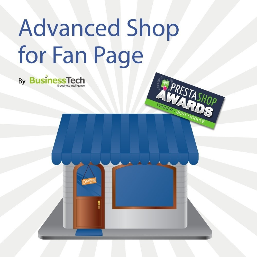 module - Produtos nas Facebook & Redes Sociais - Advanced Shop for Fan Page - 1