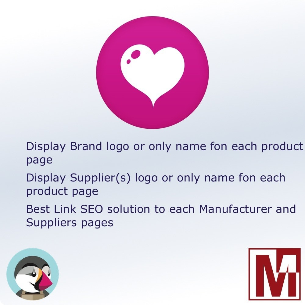 module - Emblemas e logotipos - Manufacturer and / or Suppliers logo on product page - 1