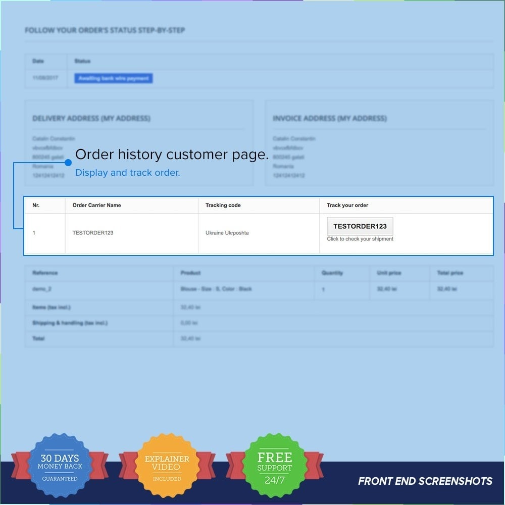 module - Rastreamento da entrega - LIVE Shipping/Order Tracking Multiple Carriers - 4