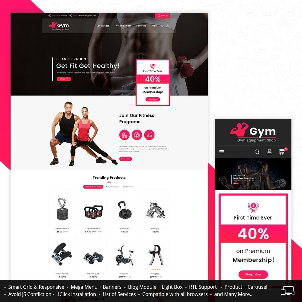 theme - Sports, Activities & Travel - Gym Equipment Store - 1
