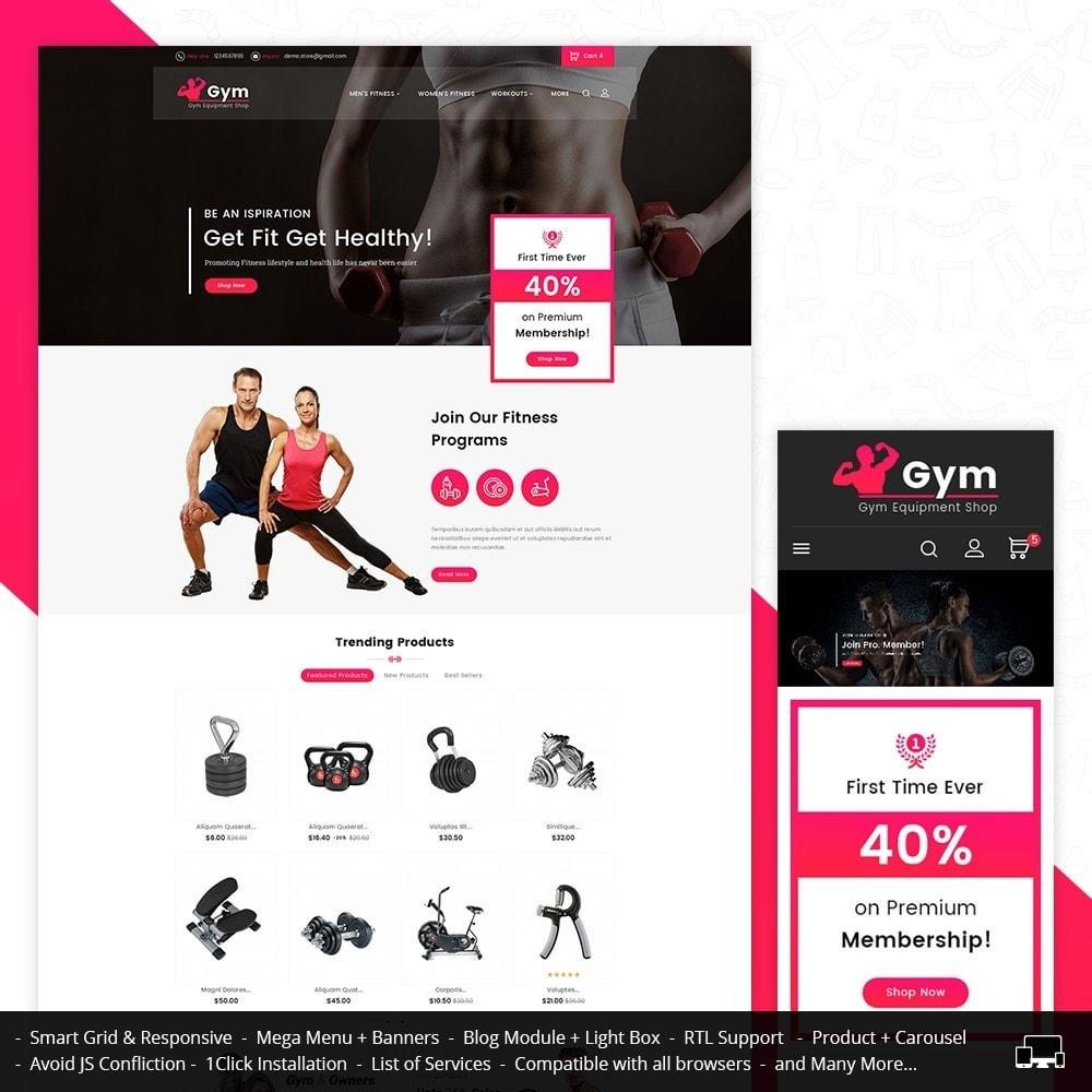 theme - Sport, Loisirs & Voyage - Gym Equipment Store - 1