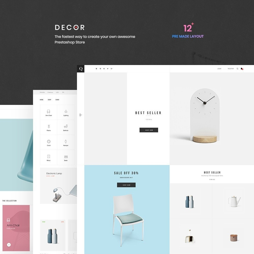 theme - Kunst & Cultuur - Decor Store Responsive Multiple Prestashop Theme 1.7 - 2