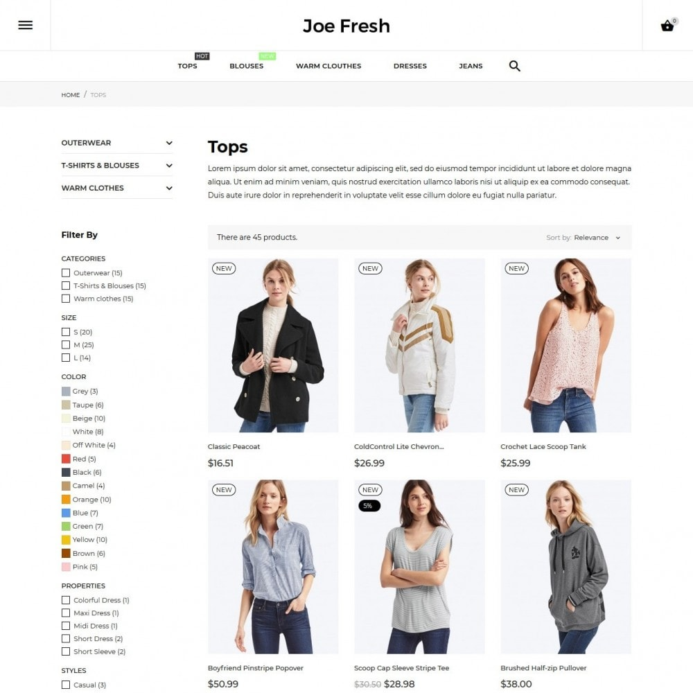theme - Moda y Calzado - Joe Fresh Fashion Store - 7