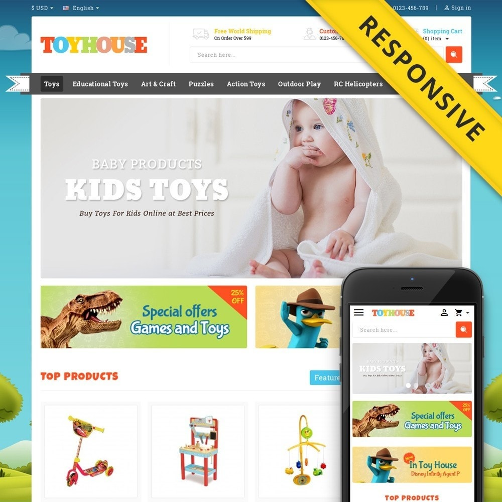 theme - Kids & Toys - Toys House Store - 1