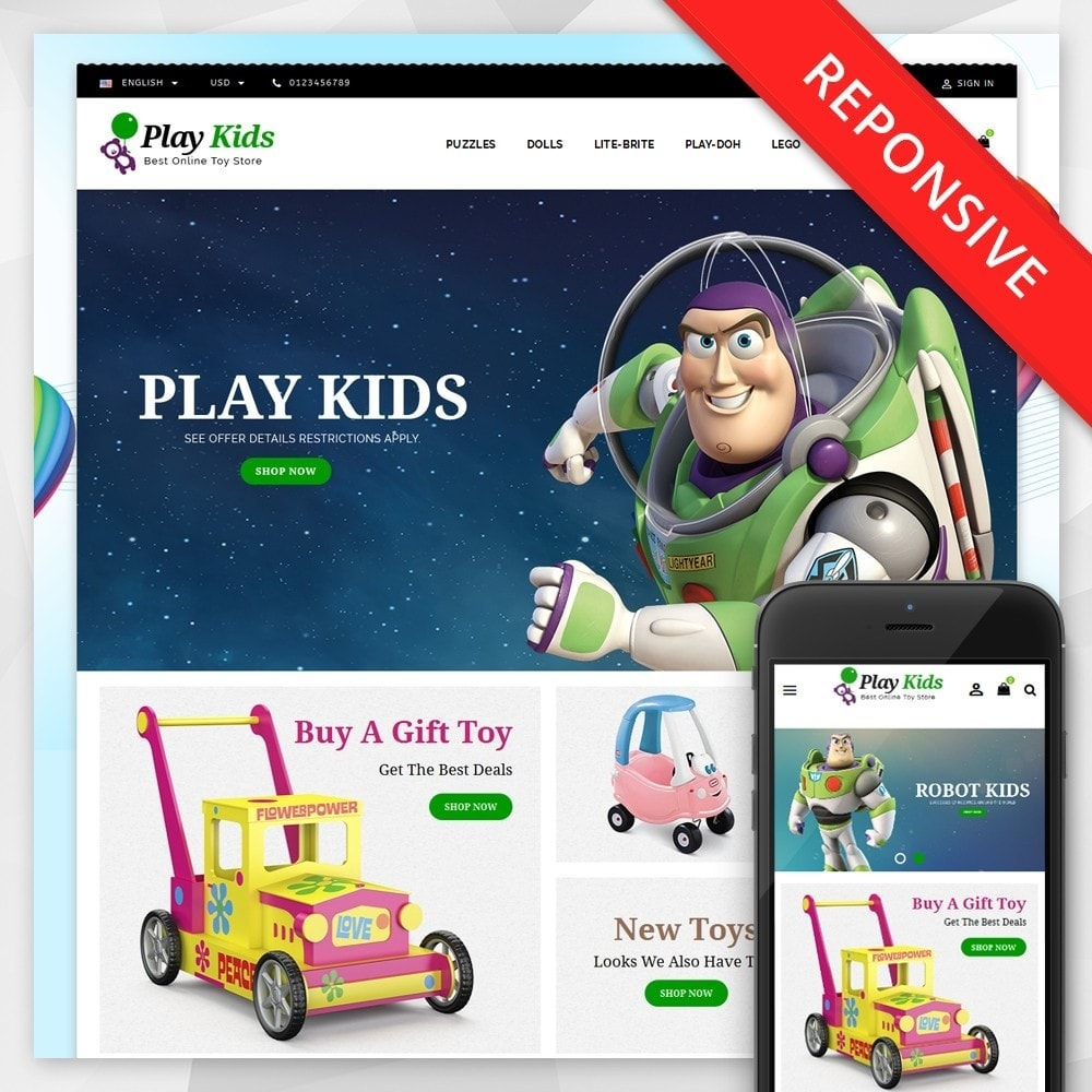 theme - Kids & Toys - Play Kids Store - 1