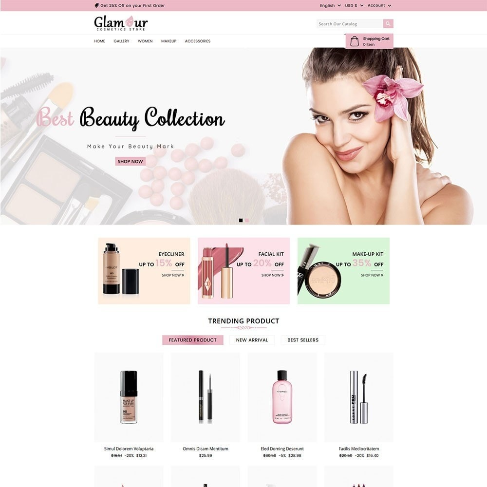 theme - Health & Beauty - Glamour Cosmetics - 2