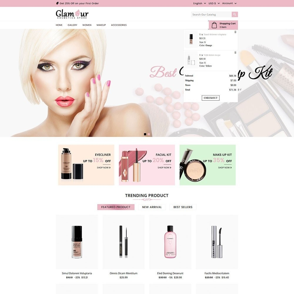 theme - Health & Beauty - Glamour Cosmetics - 3