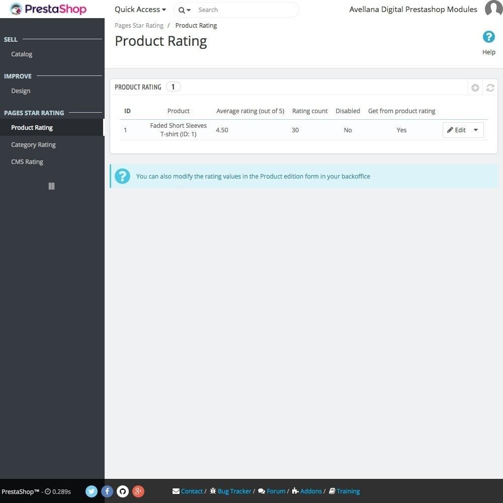 module - SEO (Posicionamiento en buscadores) - Valoraciones páginas Google: Productos - 2