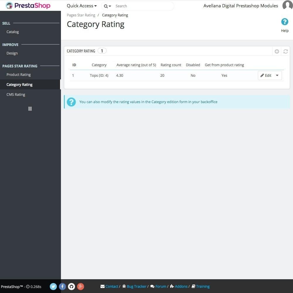 module - SEO (Posicionamiento en buscadores) - Valoraciones páginas Google: Producto, Categoría o CMS - 5