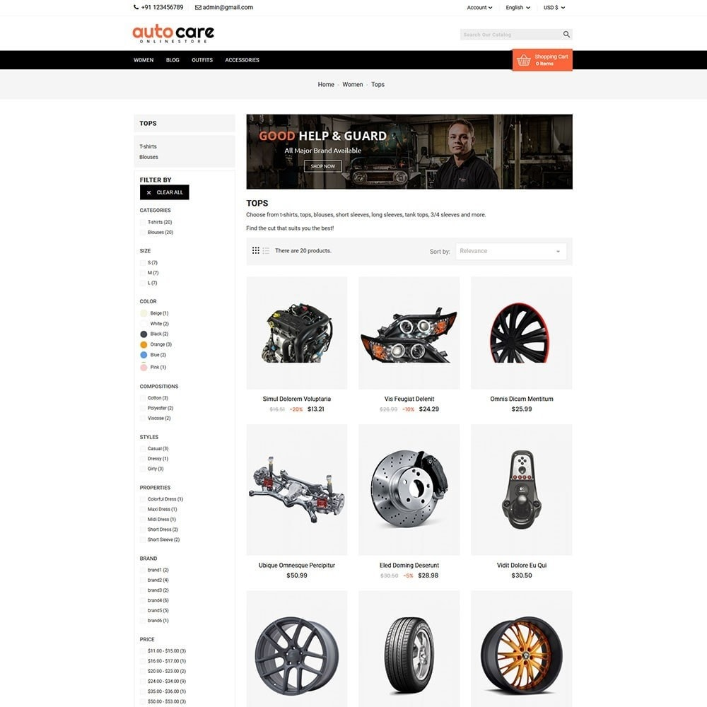 theme - Auto & Moto - Auto Care - 4