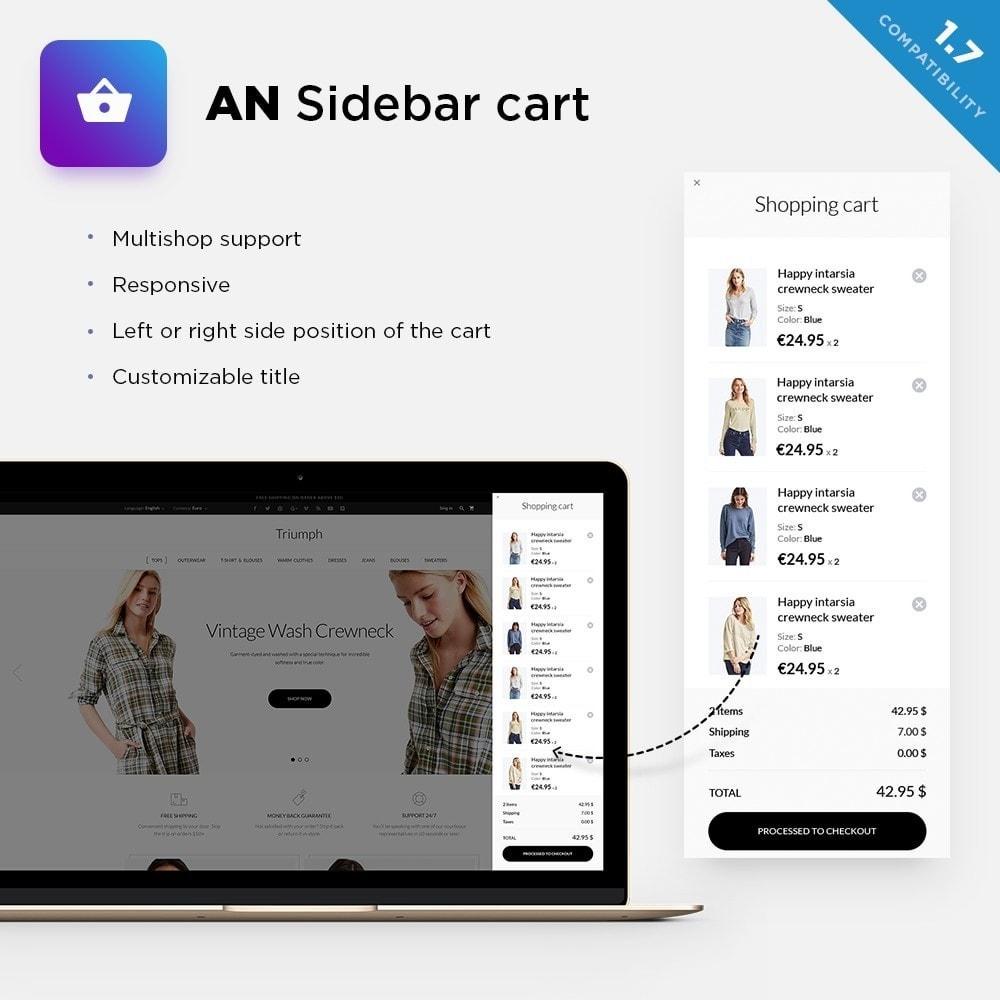 module - Registratie en Proces van bestellingen - AN Sidebar cart / sliding side cart - 1