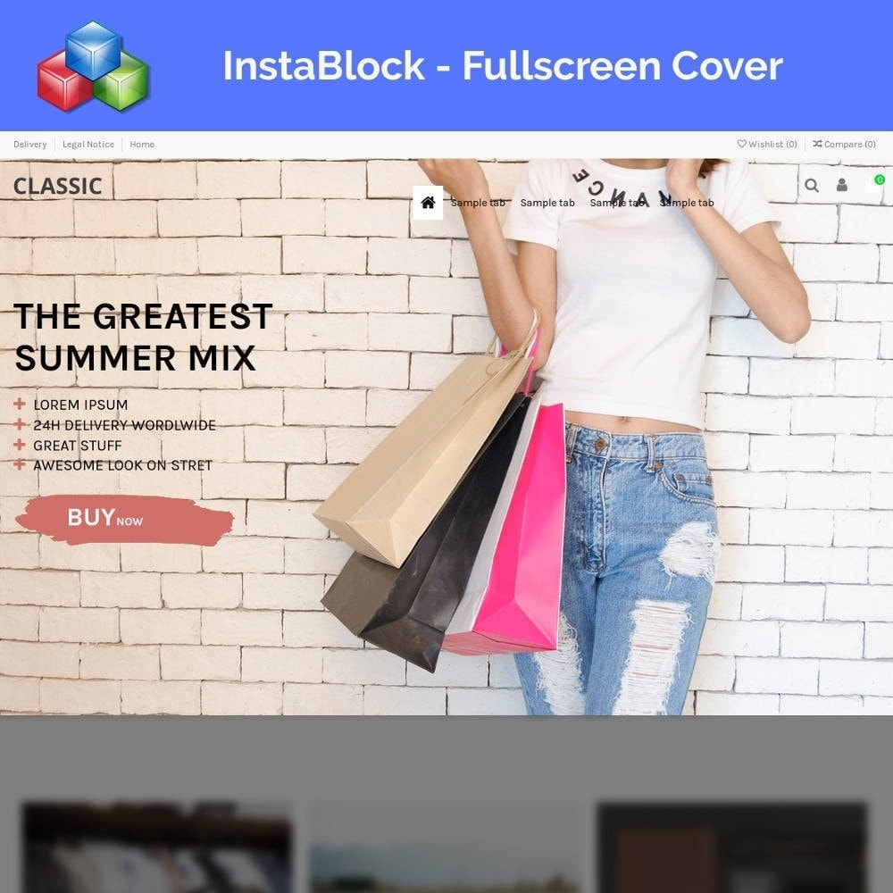 module - Personnalisation de Page - InstaBlock - Easy custom blocks - 1
