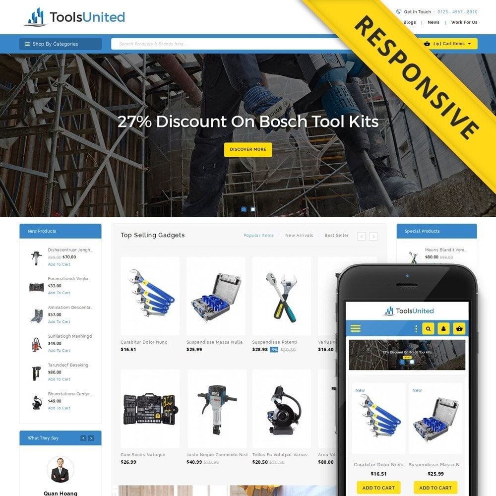 theme - Auto & Moto - Tools United Store - 1